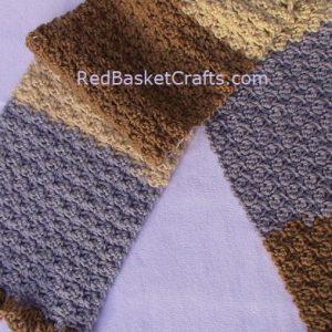 Bud Scarf Crochet Pattern 4 ply Yarn Easy