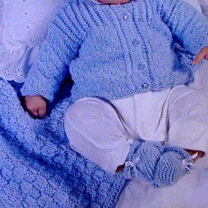 Baby Booties, Sweater, Hat, Blanket - Knitting Pattern
