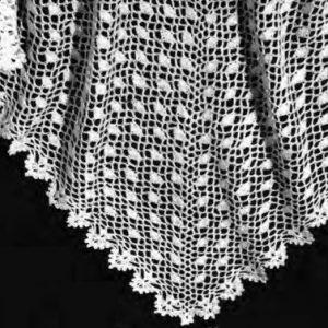Crochet Head Shawl Vintage Pattern