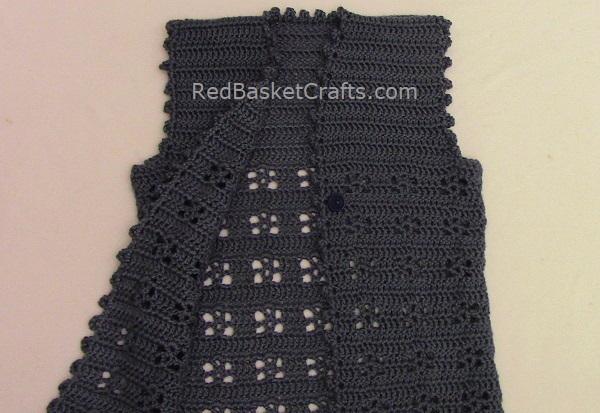 Crochet Vest Easy Pattern Flower Stitch