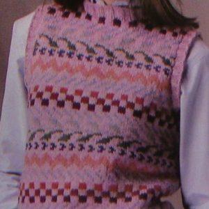 Fair Isle Vest Vintage Knitting Pattern