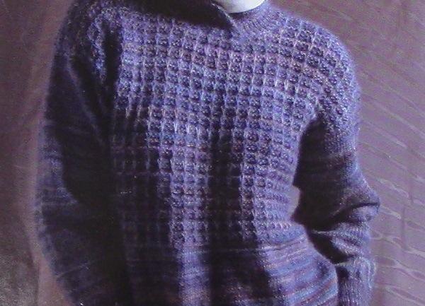 Textured Sweater Knitting Pattern