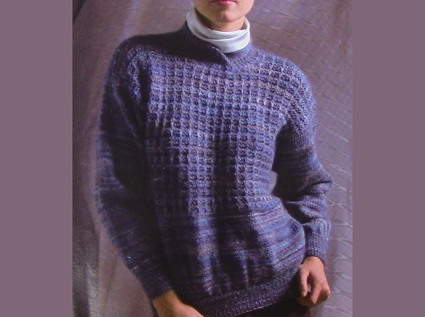 Sweater in Texture Stitch -Knitting Pattern
