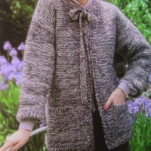 Knit Garter Stitch Cardigan - Easy Pattern Beginner - Long Sleeves No Buttons