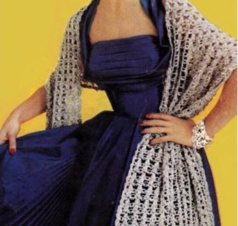 Long Crochet Stole Scarf Vintage Pattern