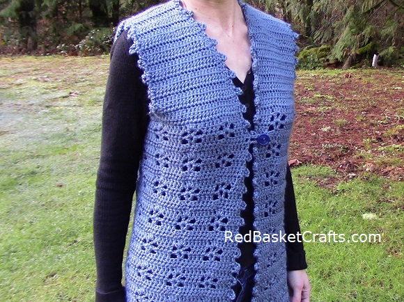 Petal Vest Easy Crochet Pattern Worsted Medium Weight 4 ply yarn
