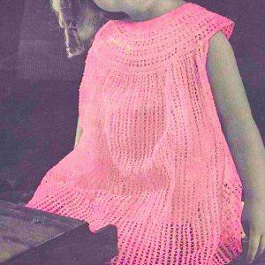 Girls Crochet Dress Size 2 and 4 Vintage Pattern
