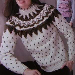 Winter Sweater Fair Isle Vintage Knitting Pattern