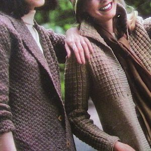 Women's Cardigans Long Sleeved 1980s Knitting Patterns