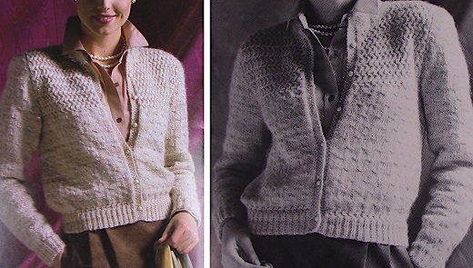 Textured Cardigan Buttoned Long Sleeves