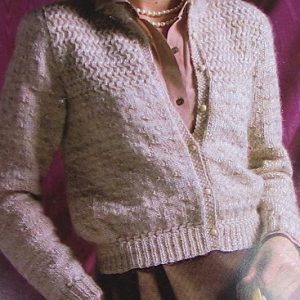 Vintage Buttoned Cardigan Long Sleeves - Sizes XS, S, M and L - Knitting Pattern