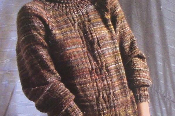 Turtleneck Raglan Pullover XS, S, M, L - Vintage Knitting Pattern