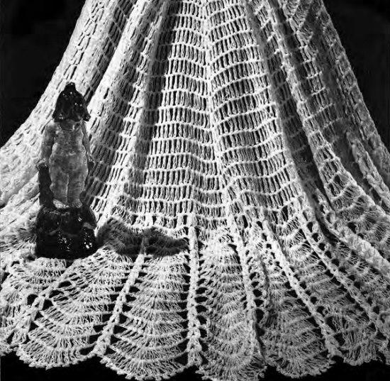 Crochet Shawl - Vintage Pattern