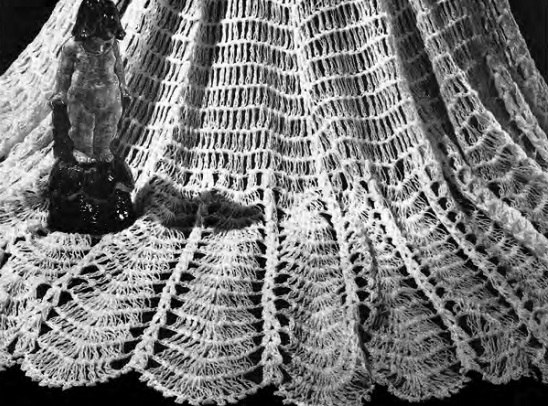 Water Lily Shawl - Vintage Crochet Pattern