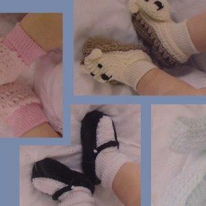 Infant Booties Easy Crochet Pattern Sport Yarn