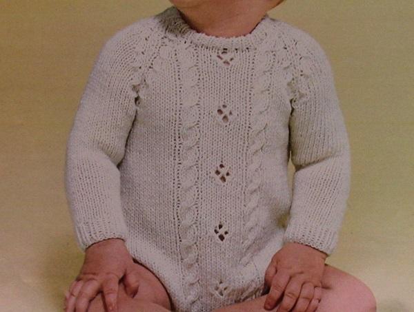 Baby Raglan Pullover Knitting Pattern Bottom-Up