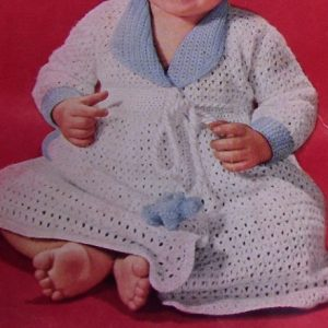Baby Dress Crochet Pattern 1950s Vintage