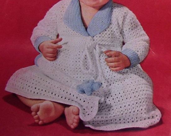 Baby Dress Crochet Pattern 1950s Vintage
