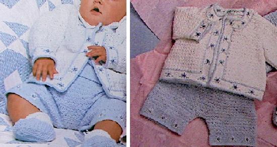 Baby Set Jacket Booties Pants Top Crochet Pattern Baby Yarn