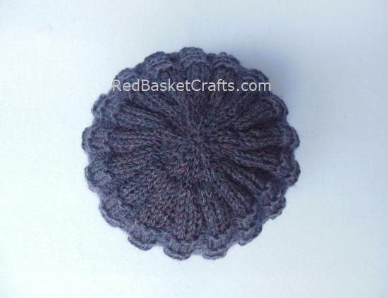 Knit Beanie Ribbed Hat Knitting Pattern 4 Ply Yarn