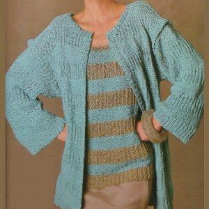 Drop-Shoulder Cardigan - Easy Knitting Pattern