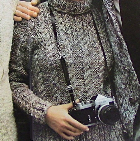 Cable Turtleneck Sweater Cable Stitch Knitting Pattern Vintage