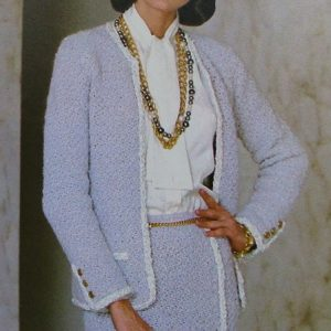 Crochet Buttonless Cardi DK Yarn Women's Vintage Pattern