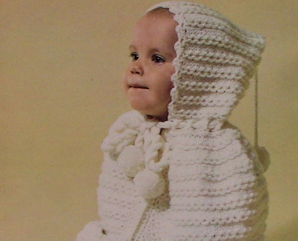 Baby Bunting Hooded Knitting Pattern Baby Infant 4 Ply Yarn