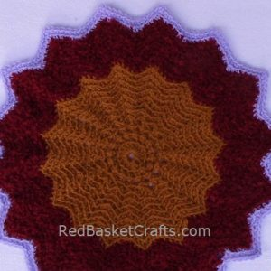 Doily Mat Easy Crochet Pattern Circular Worsted or Light Weight Yarn
