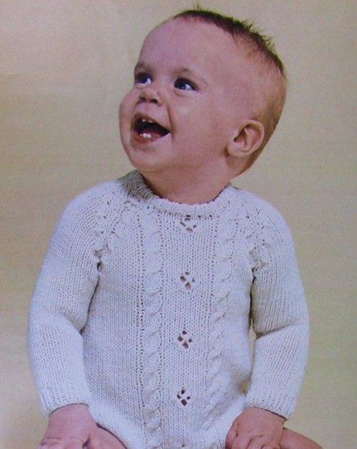 Baby Sweater Knitting Pattern Infant Size