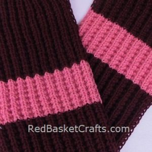 Knit Seed Rib Stitch Scarf Reversible Pattern Worsted Yarn Easy
