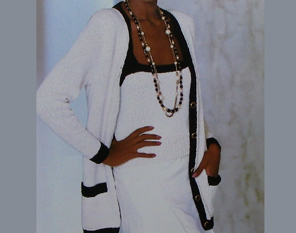 Knit Cardigan and Camisole Pattern Worsted Yarn