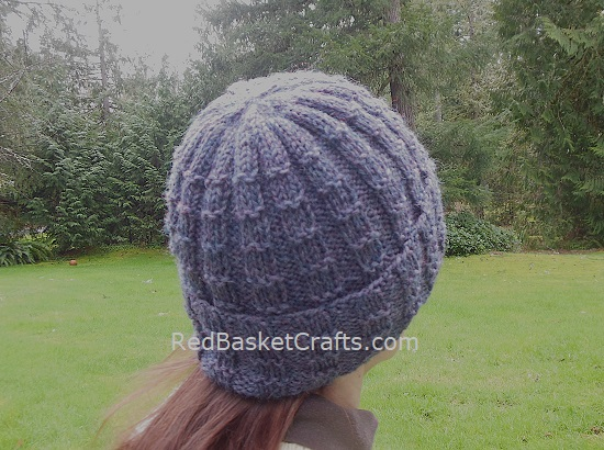 Ribbed Knitted Hat Brim Pattern 4 Ply Yarn
