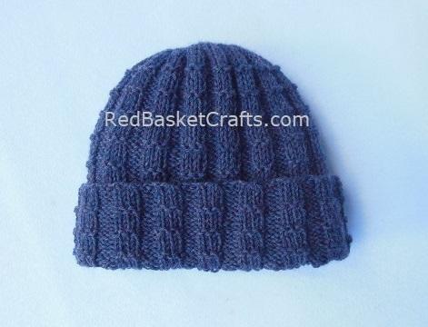 Ribbing Stitch Hat Fold-Over Brim - Intermediate Knitting Pattern