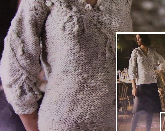 Knit Sweater Chunky Yarn Vintage Pattern