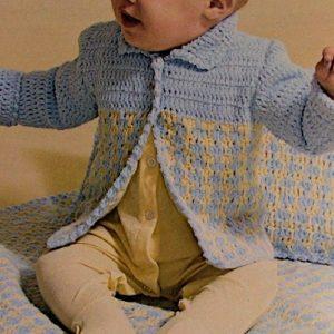 Crochet Baby Cardigan Blanket Cushion Pattern