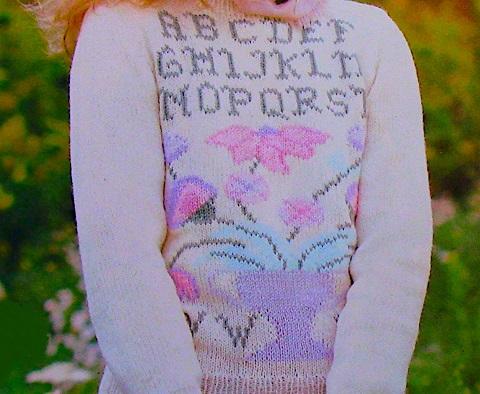 Fair-Isle Flowers Sweater Knitting Pattern