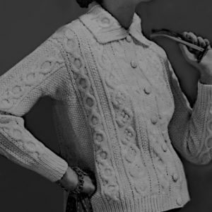 Aran Sweater Cable Seed Stitch Cable Knitting Pattern Vintage