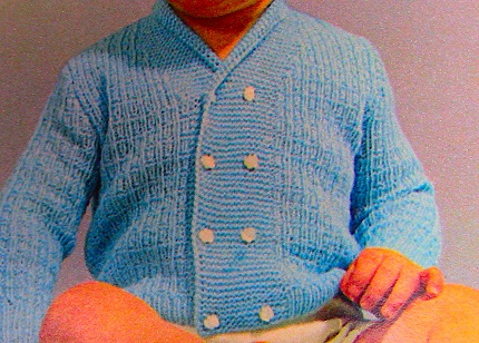 Baby Cardigan Double Breasted Texture Stitch Knitting Pattern Fingering Yarn