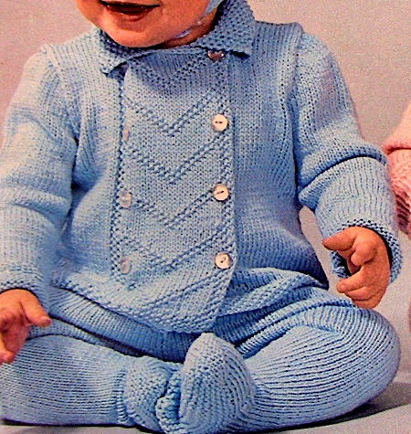 Baby Hat Leggings Jacket Fingering Yarn Knitting Pattern