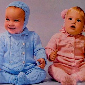 Baby Sets: Knitting Patterns From Sport and Fingering Yarn; Jacket, Leggings, Hat