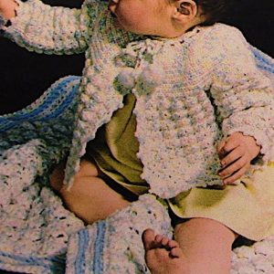 Infant Blanket Cardigan Vintage Crochet Pattern