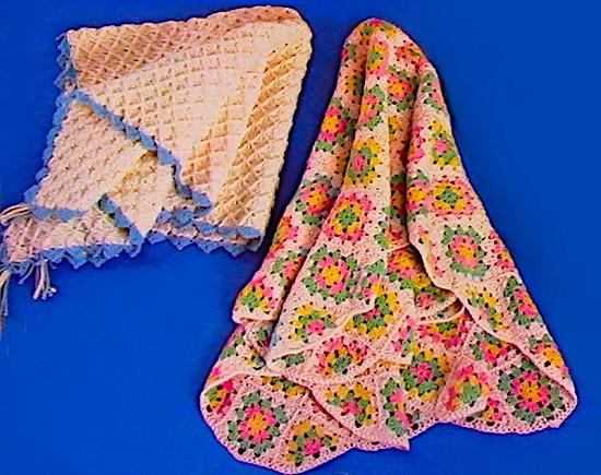 Crochet Baby Blanket Pattern Granny Square Textured Design