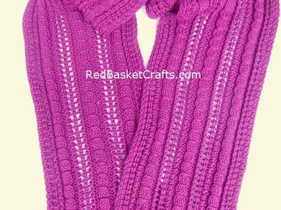 Ribbed Beanie Rib Lace Stitch - Knitting Pattern