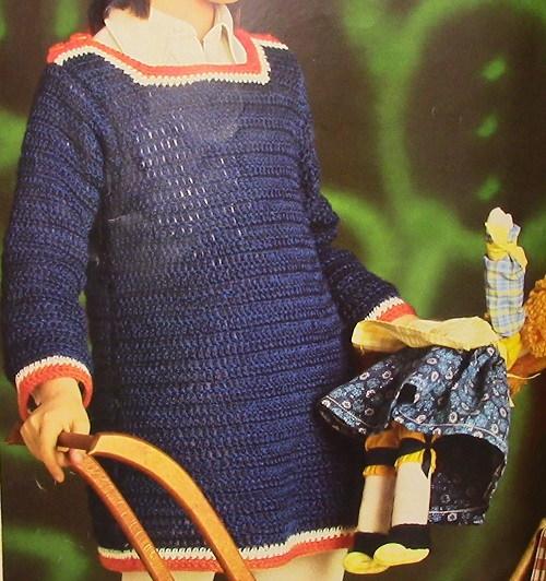 Crochet Dress Pattern Sport Yarn Size 4, 5, 6
