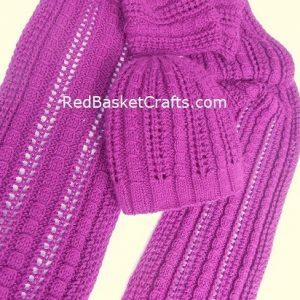 Lace Rib Hat Openwork Knitting Pattern 3 Ply Yarn DK