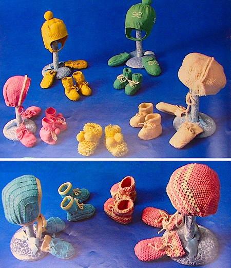 Baby Hats Fingering Yarn Knitting Booklet
