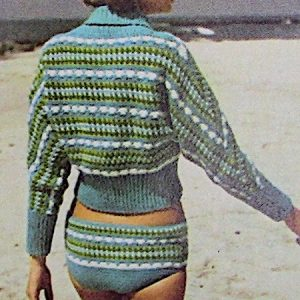 Beach Top And Swimsuit 2 Ply Sport Yarn Crochet Pattern