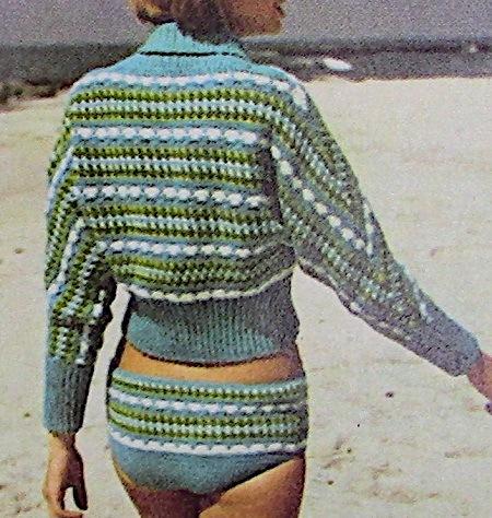 Beach Top And Swimsuit 2 Ply Sport Yarn Crochet Pattern