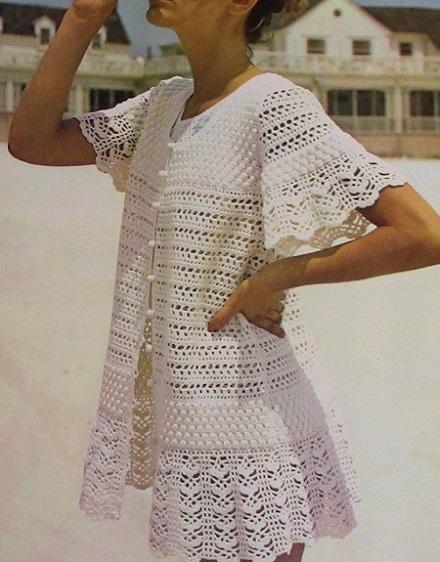 Lace Beach Dress Crochet Pattern